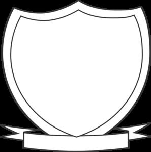 jpg free Vector crest ribbon. Blank shield template clipart