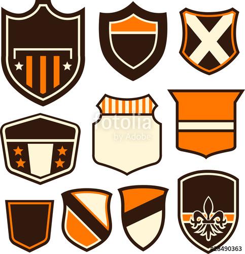 picture free stock Vector emblem shape. Badge shield symbol stock