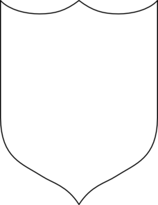 clip art black and white library Heraldic Shield Three Pointed