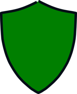 jpg freeuse library Green And Black Shield Clip Art at Clker