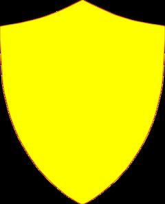 banner transparent Yellow Shield Clip Art at Clker