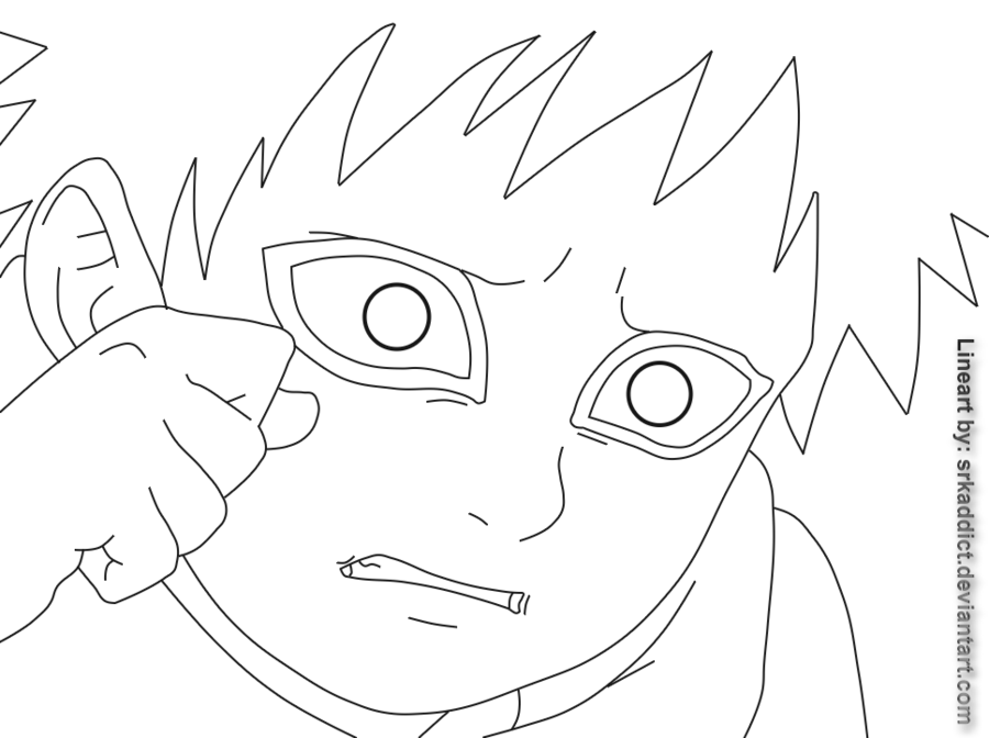 png transparent download Gaara lineart young crying. Garra drawing sketch.