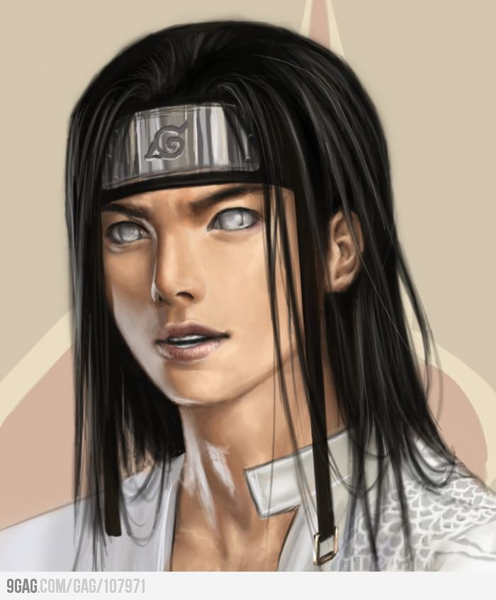 vector royalty free download realistic drawing of Neji