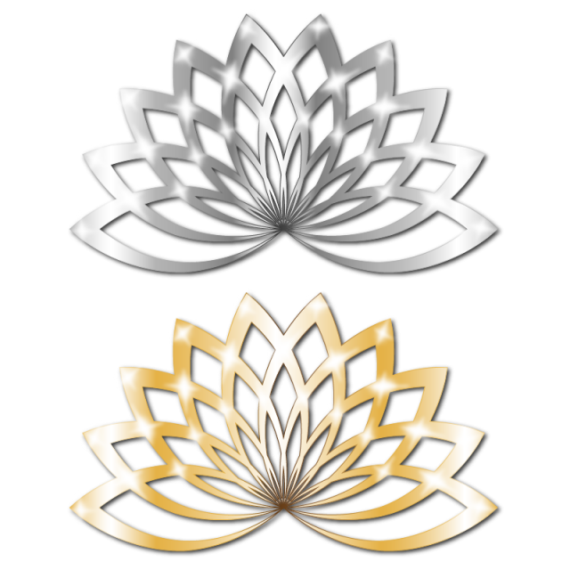image freeuse library Silver golden lotus floral. Shine vector