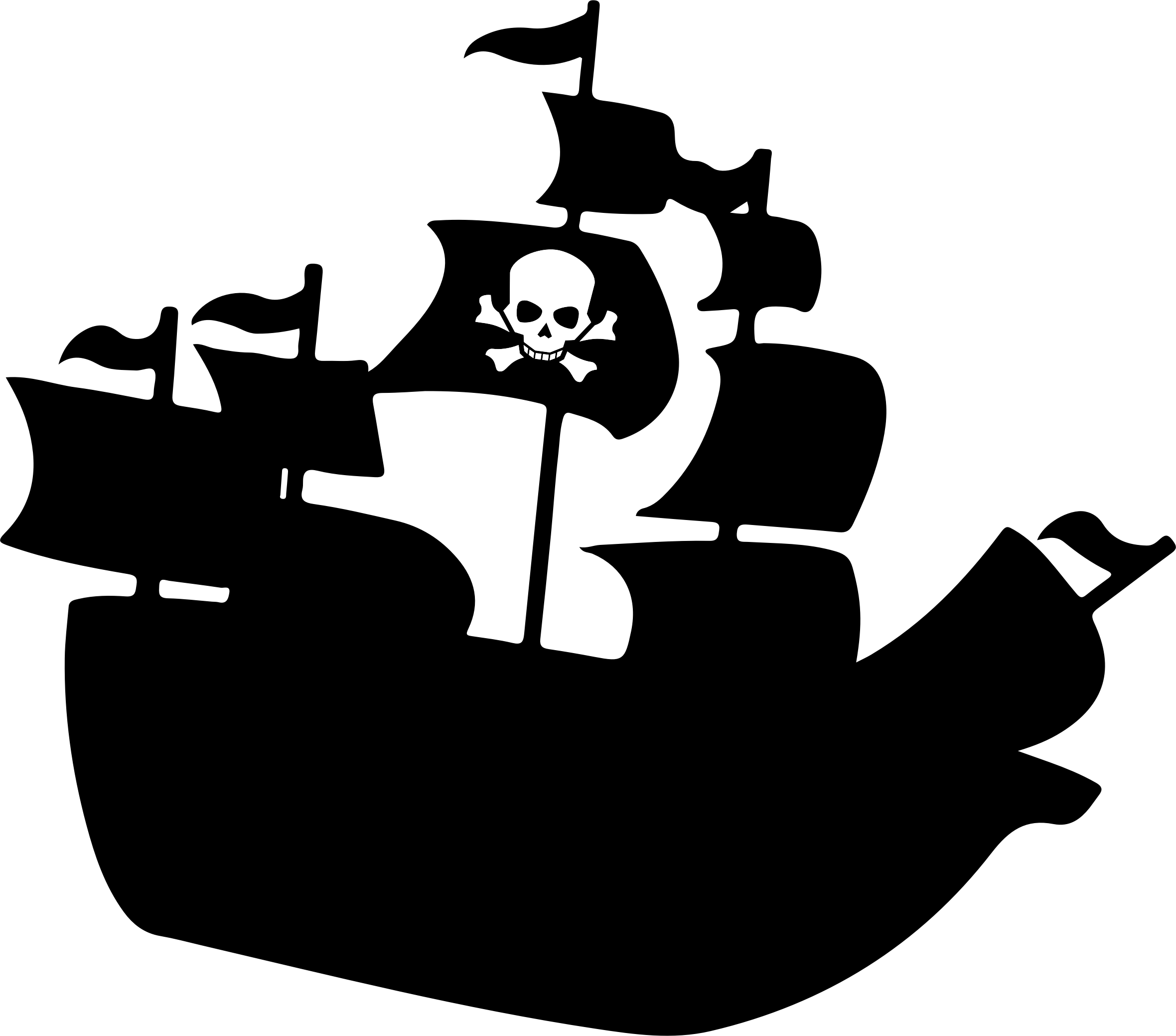 freeuse Vector cannon ship. Pirate silhouette icons png
