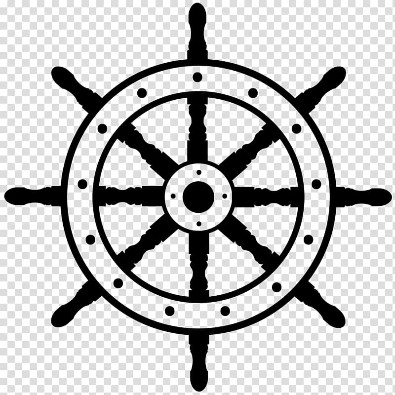 banner royalty free stock S boat transparent background. Ship steering wheel clipart