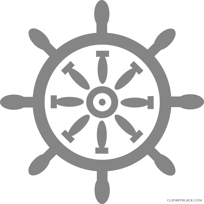 clipart free stock Clipartblack com transportation free. Ship wheel clipart black and white