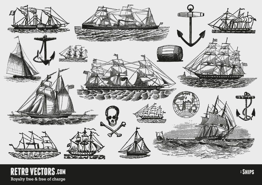 vector free Free Vintage ship Vectors