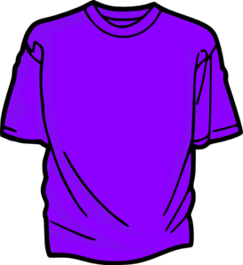 svg transparent T shirt purple clip. Tshirt clipart.