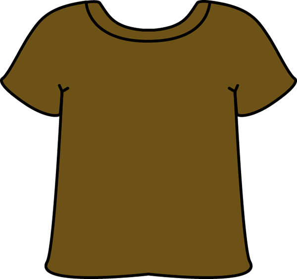 jpg library Brown T Shirt Clipart