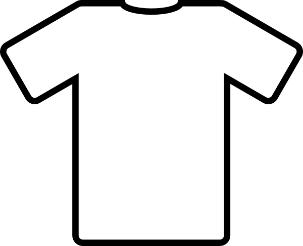black and white Kid drawn soccer jersey. Kids shirt clipart