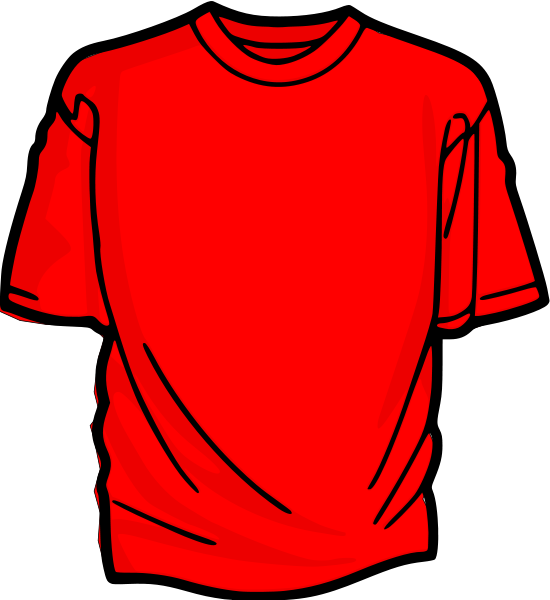 transparent T shirt red design. Shirts clipart