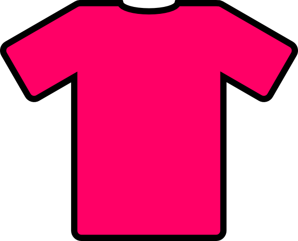 vector black and white Pink T Shirt Clip Art at Clker