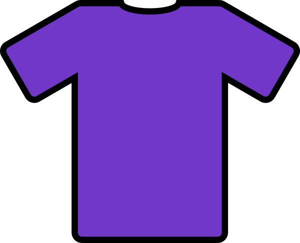 picture black and white Purple T Shirt Clip Art at Clker