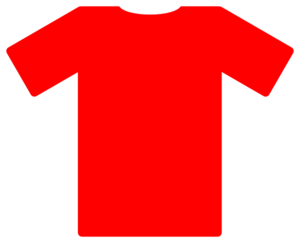 graphic black and white library Red Soccer Jersey Clip Art at Clker