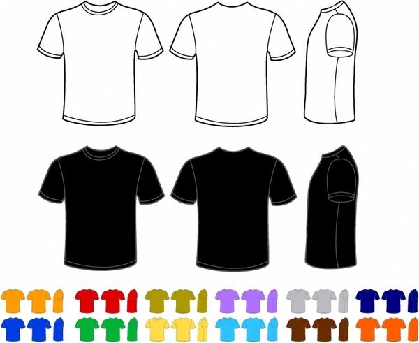 vector freeuse Men t shirt free. Shirts vector