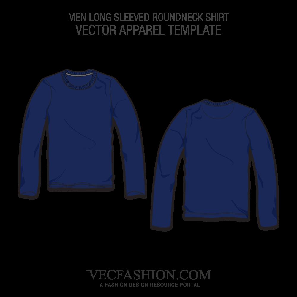 jpg transparent stock Long Sleeved Round Neck Shirt