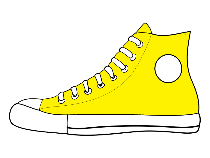 svg free Shoe clipart. Shoes cartoon white yellow