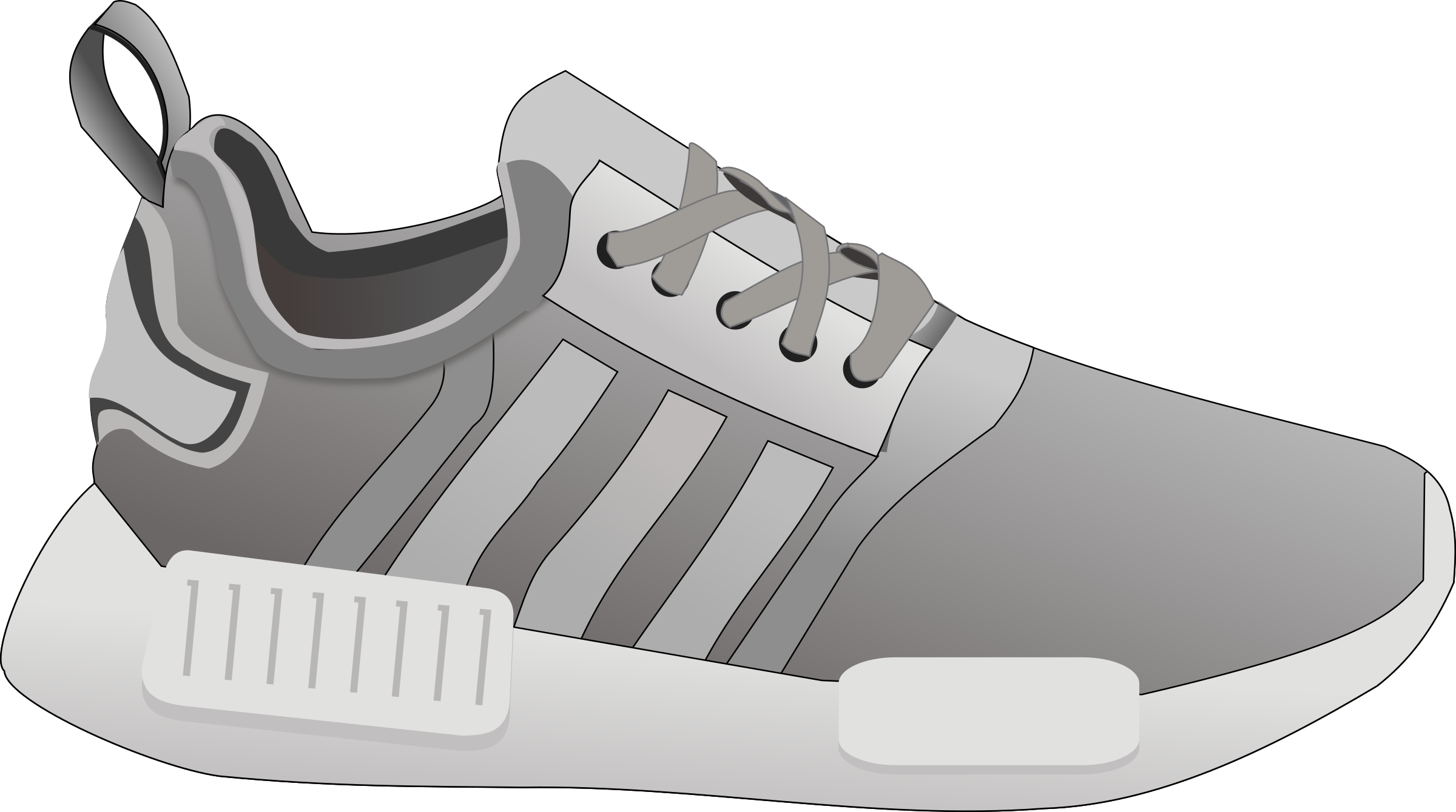 picture download Tennis shoe clipart black and white. Re remix icons png