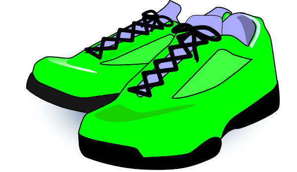 royalty free Running yellow shoe free. Clipart tennis shoes