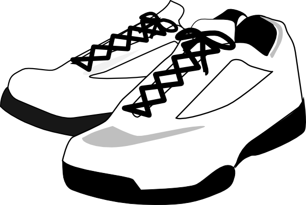 clip art library download Shoes clip art kcnxneacq. Tennis shoe clipart black and white