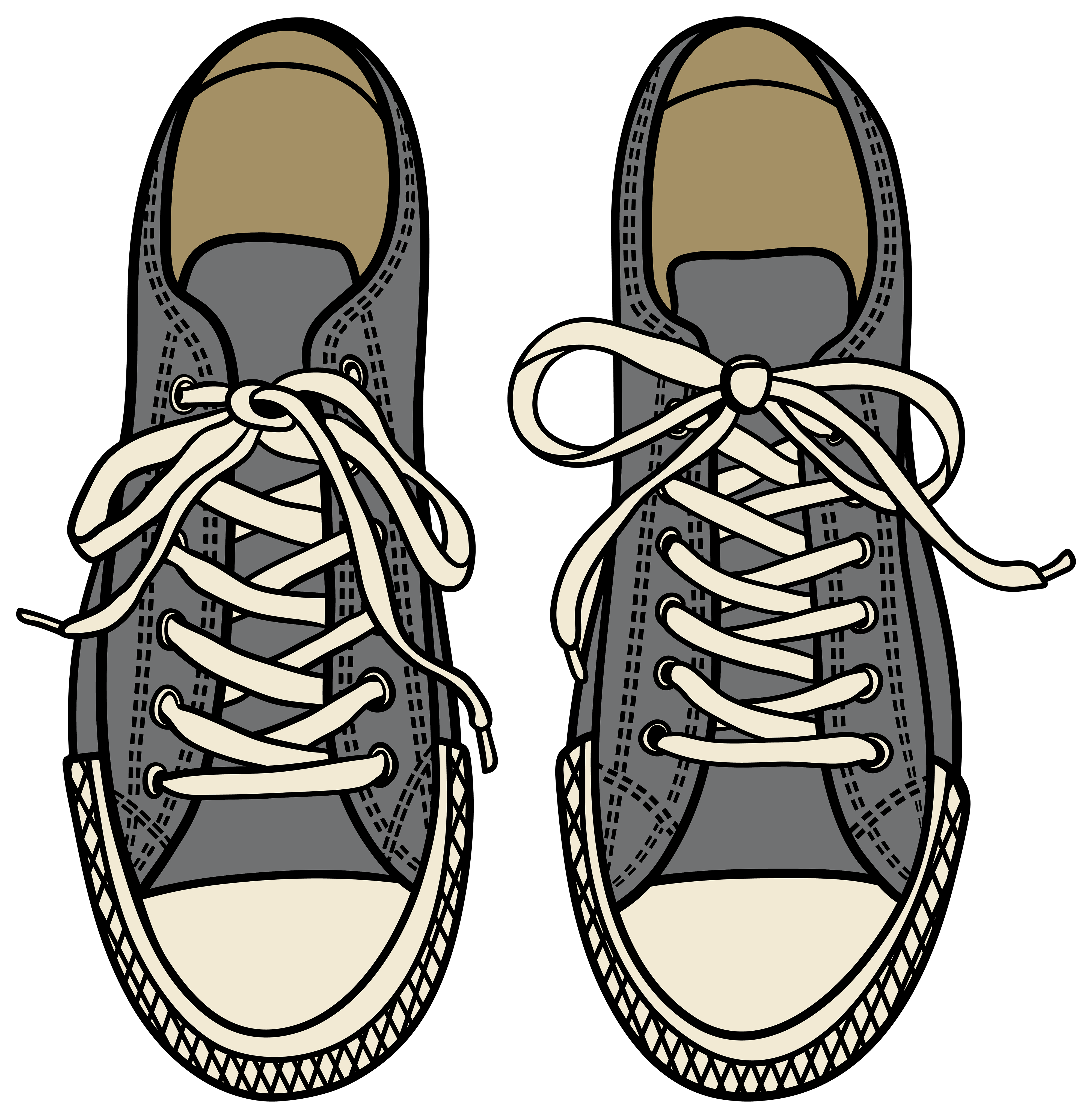 graphic royalty free download Grey png clipart best. Drawing sneakers cute