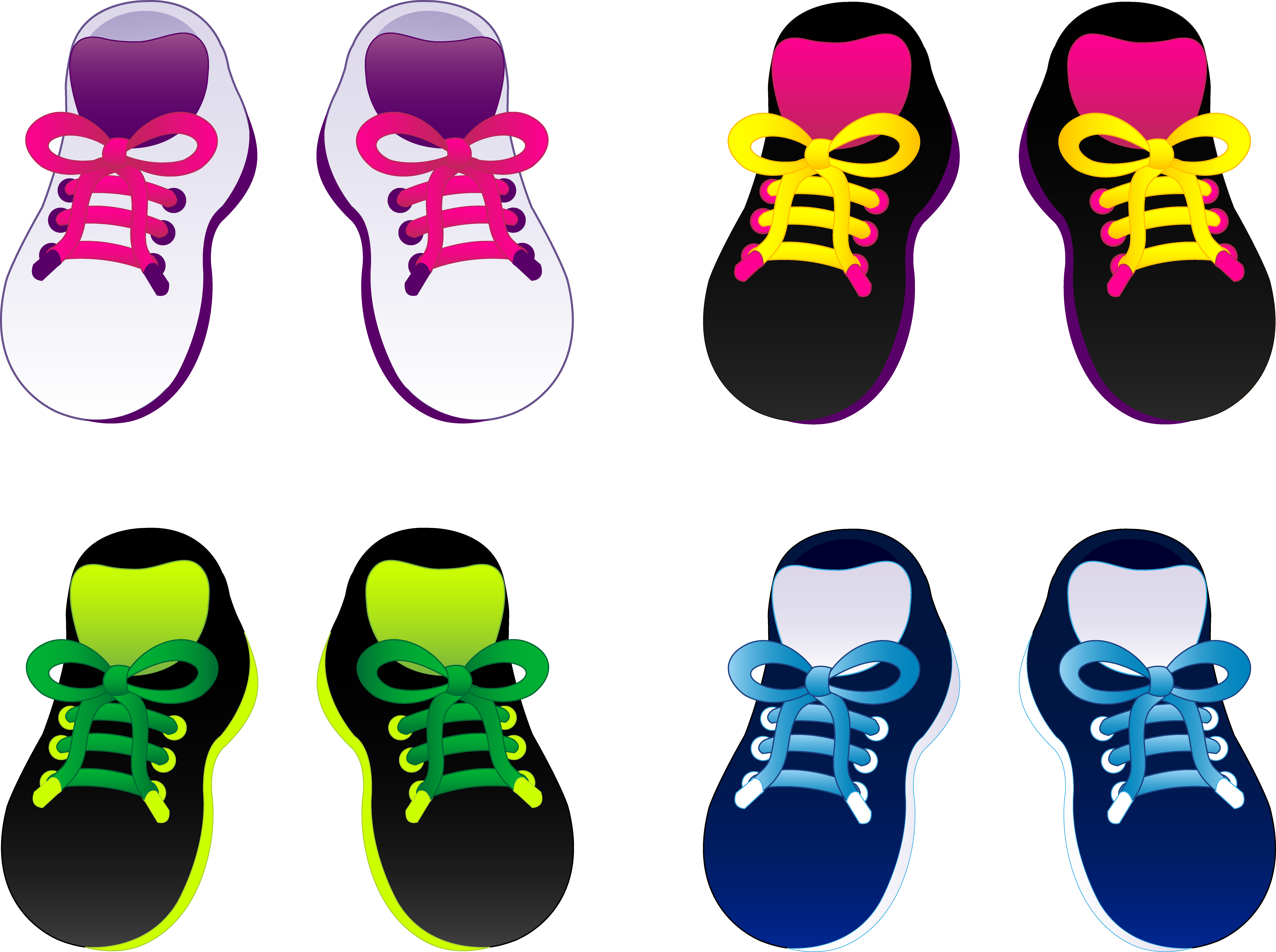 vector transparent stock Pair of shoes clipart. Drawing sneakers kid
