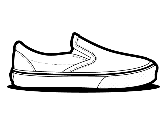 banner free Drawing sneakers outline. Clipart pink shoe frames