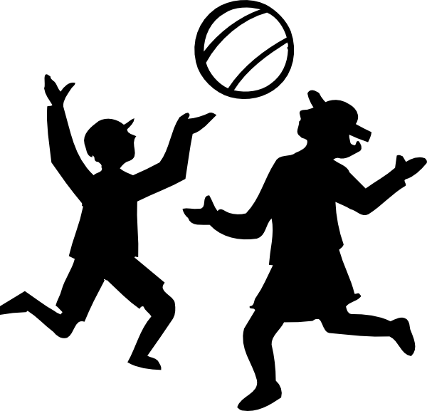 banner free stock Kids playing outside clipart. Basketball player shooting panda