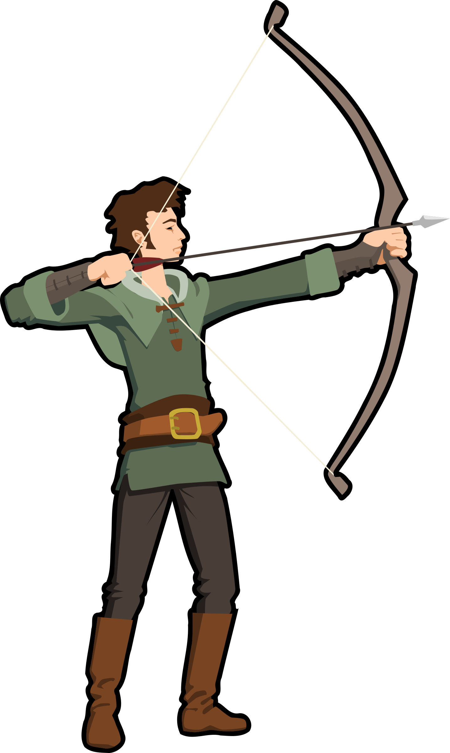 svg Hunting vector. Clipart archer big image