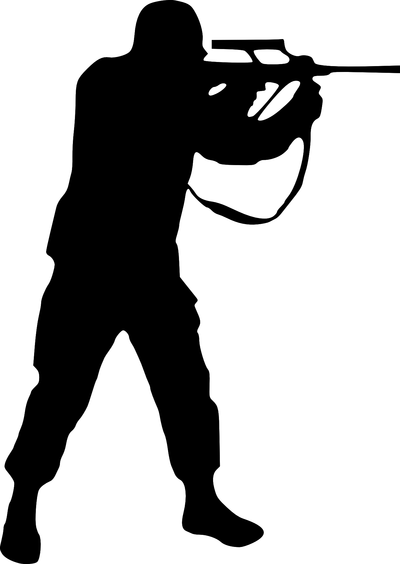 jpg stock Man Shooting Silhouette at GetDrawings
