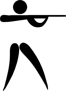 image library download Olympic sports pictogram clip. Shooting clipart