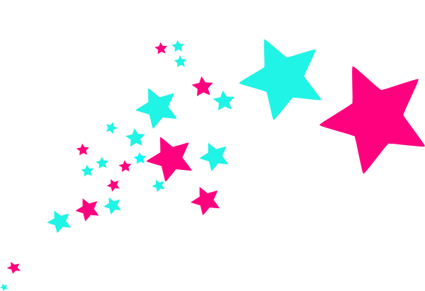 clip royalty free stock Shooting stars clip art. Pixel vector colourful star
