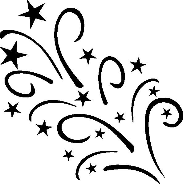 jpg transparent Starplodebw clip art at. Shooting stars clipart black and white