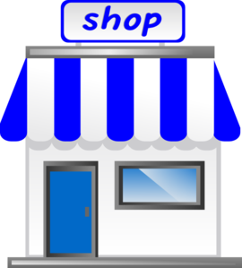 clip transparent Auction clipart merchandise. Shop with awning clip.