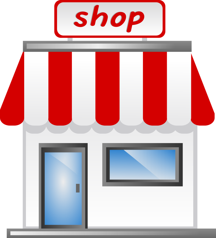 clip art library stock Corner laden an der. Supermarket clipart provision store