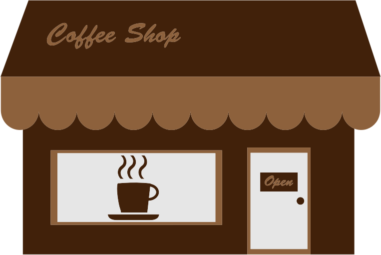 clip black and white stock Shop panda free images. Supermarket clipart cafe building.