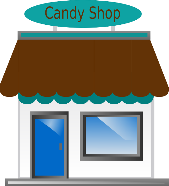 jpg black and white library Vector candy store. Shop front clip art