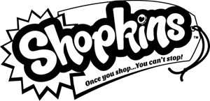 svg freeuse library Shopkins logo svg free. Vector emblem black and white