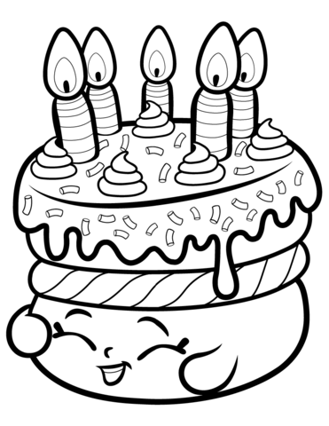 clip free download Drawing printables shopkins. Cake wishes shopkin coloring