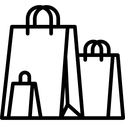 picture royalty free stock Shopping Bags PNG Black And White Transparent Shopping Bags Black