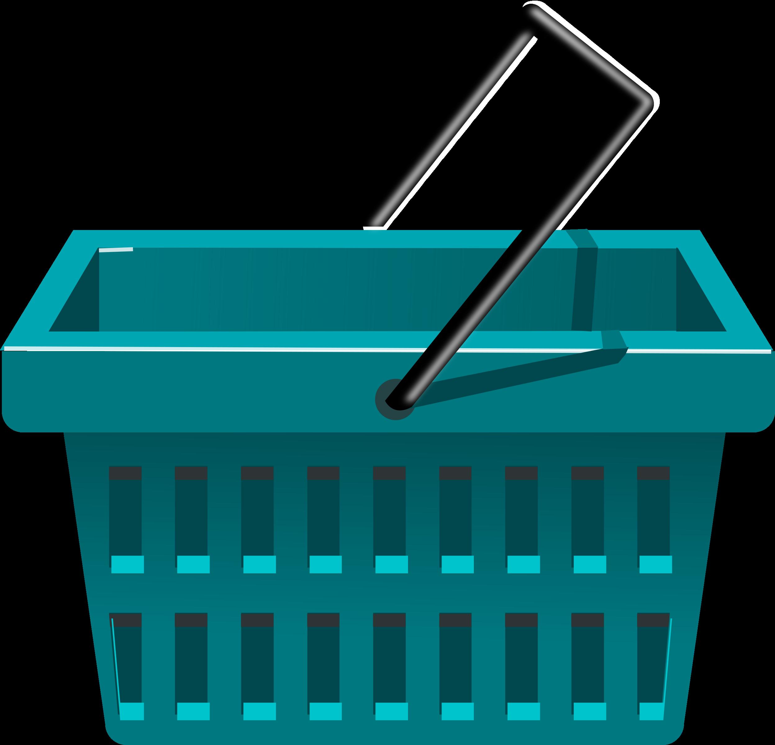 image royalty free download Supermarket clipart logo. Blue basket big image.