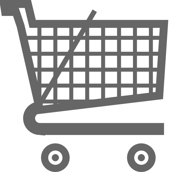 image transparent Grey Shopping Cart Clip Art at Clker
