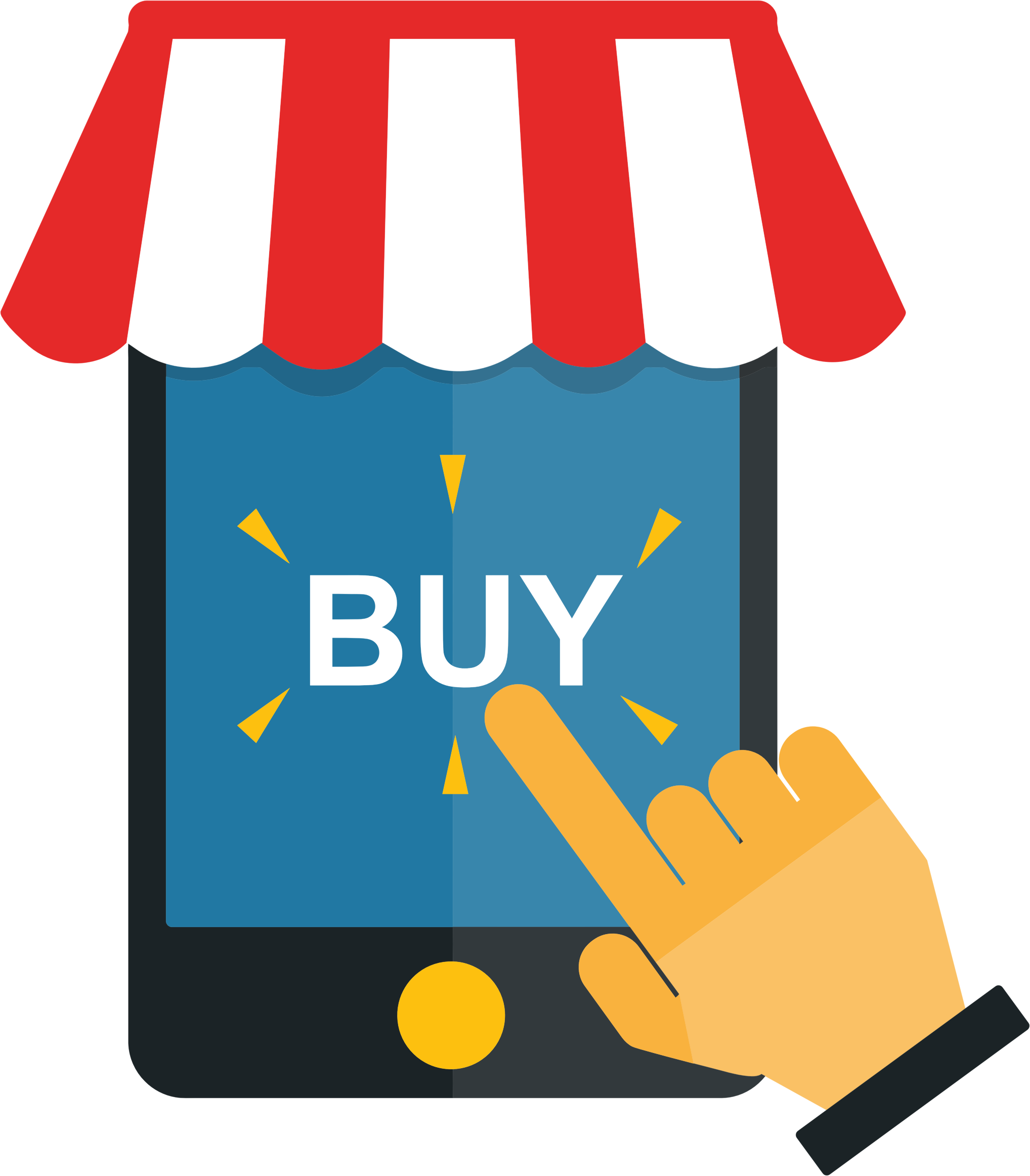 freeuse Mobile big image png. Shopping clipart.