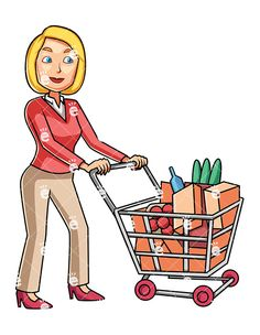 clip art royalty free stock Supermarket clipart customer buying. Shopping