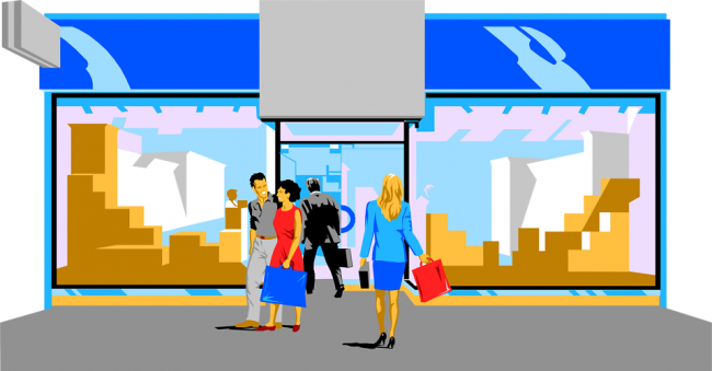 jpg library Image of Shopping Mall Building Clipart
