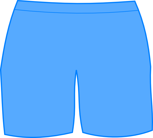 picture black and white Blue Bathing Shorts Clip Art at Clker