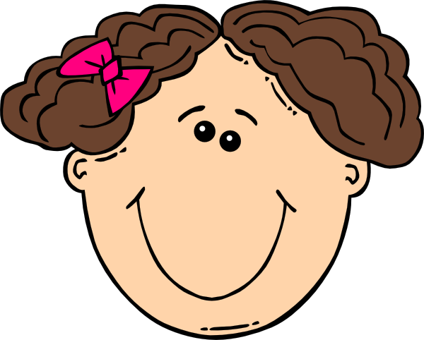 png freeuse stock Short clipart. Smiling brown hair girl.