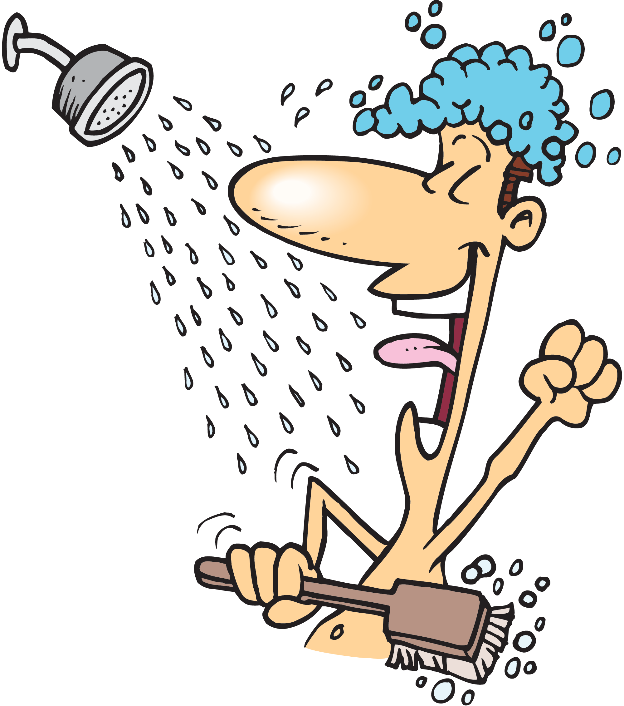 vector library stock Showering clipart. Shower short free on.