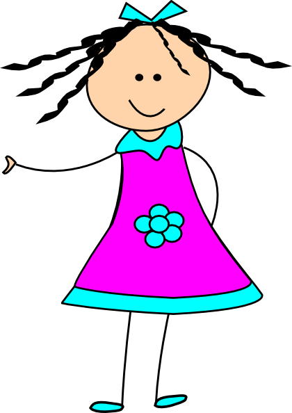 png freeuse stock Little clip art at. Happy girl clipart